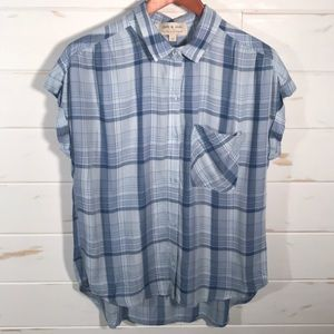 Cloth and stone plaid button down NWOT